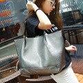 2016 new Shoulder Bag Messenger Bag women bag capacity cortex Pu fabric fashion personality tourism Black Grey Pink Silver