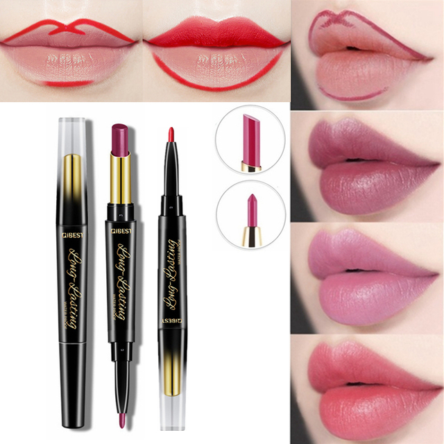 e270d0ae US $1.93 30% OFF|15 Color Lips Makeup Red Lip Liner Pencil Matte Lipstick  Set Long lasting Waterproof Liners Lips Contour Make Up 2 in 1 Lip Pen -in  ...
