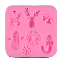 Silicone Cake Decorating Mold Fondant Chocolate Cupcake Moulds Soap Candle Molds Christmas Kitchen Baking Supplies 3d christmas pine cones tree silicone candle soap fondant mold cake chocolate decorating baking mould tool