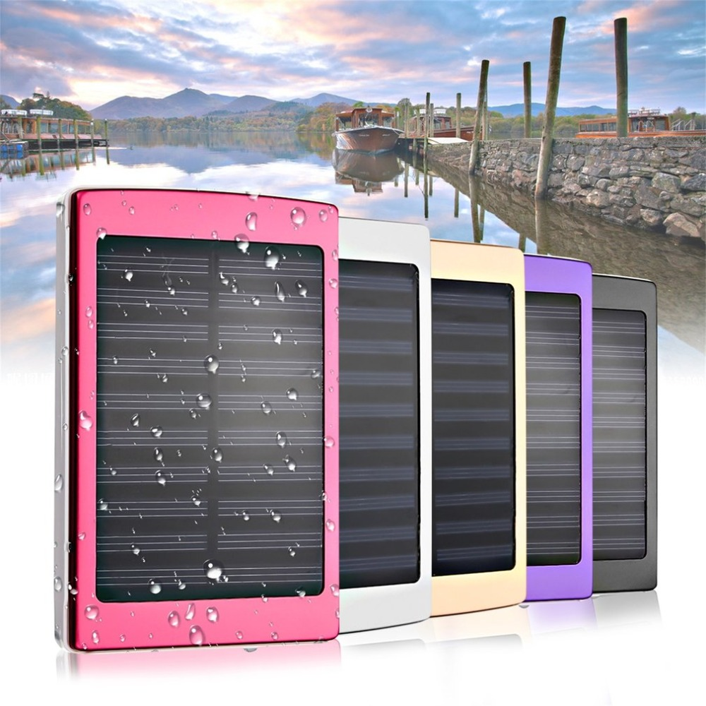 Portable Solar Panel 50000mAh Power Bank Outdoor External Battery Charger waterproof solar cells mobile phone powerbank 50000mah