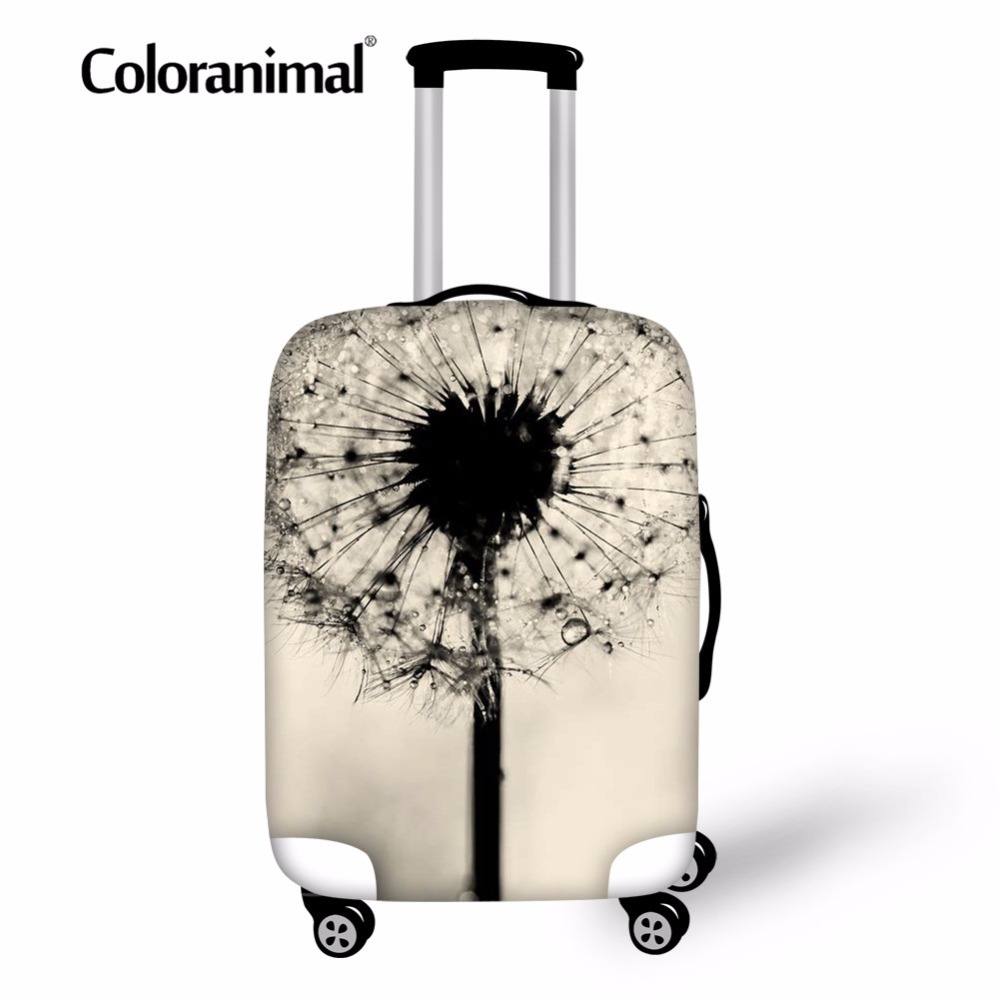 Coloranimal Dandelion Suitcase Bag Cover Travel School Accessories 3D Print Protect Luggage Case Cover for 18-30 Inch Dust Bag