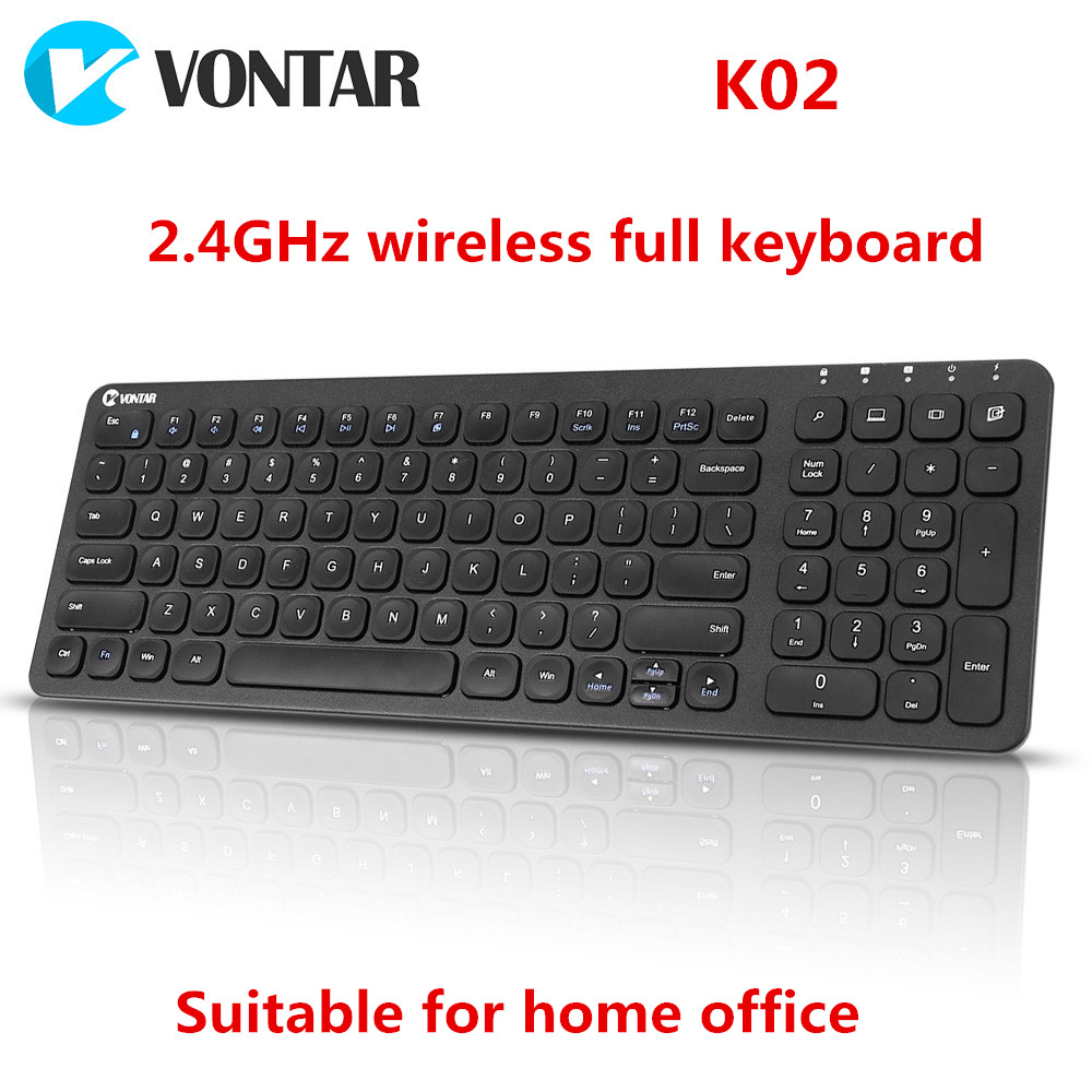 VONTAR K02 2.4GHz Ultra Thin Mute Scissors keyboard for Windows Mac PC /Smart TV and Windows 10 / 8 / 7 цены онлайн