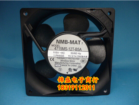 original authentic NMB 4715MS-12T-B5A 12038 120*120*38MM 115V axial flow fan new and original 12cm 4715kl 04w b50 12038 1 3a double row ball bearing cooling fan for nmb 120 120 38mm