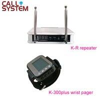 Ycall беспроводной сигнальный повторитель с часами пейджер-приемник для системы экстренного вызова клиника пожилых дома
