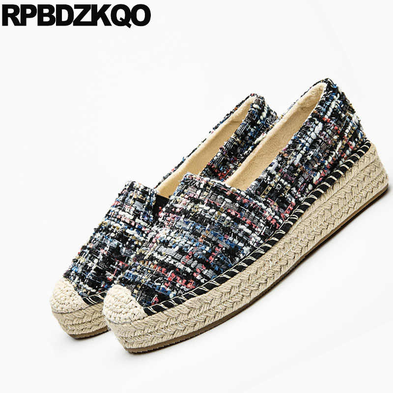 fb66dbf5b ... Hemp Creepers Platform Shoes Woven Women Rope Elevator Latest Thick Sole  Breathable Straw Muffin Flats Espadrilles