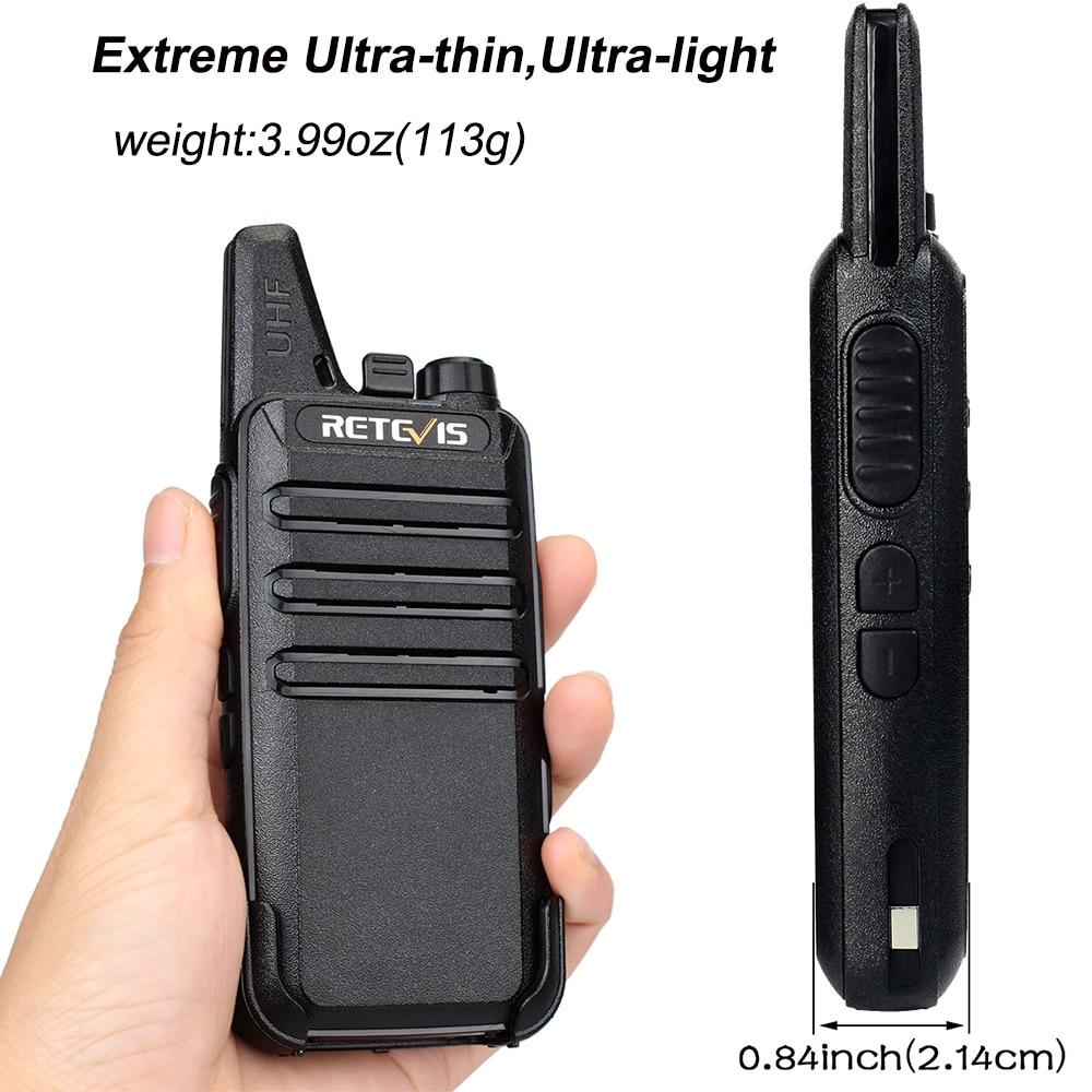 20kom Mini Walkie Talkie Retevis RT22 Extreme ultra tanki 2W UHF VOX - Voki-toki - Foto 2