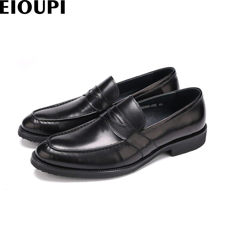 Schuhe Kleid Männer Eioupi Mens Echtem Fashion Italienische Leder Neue Design Oxford Spitz Business E668 Schuh Echte 25k wqp6f