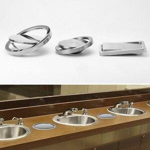 Image 3 - Paslanmaz çelik kapak gömme gömme dahili denge salıncak Flap kapak çöp kutusu çöp kutusu mutfak sayacı üst