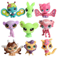 Christmas Gifts For Children 20pcs Set LPS Littlest Pet Shop Doll Ornaments Head Can Move Doll