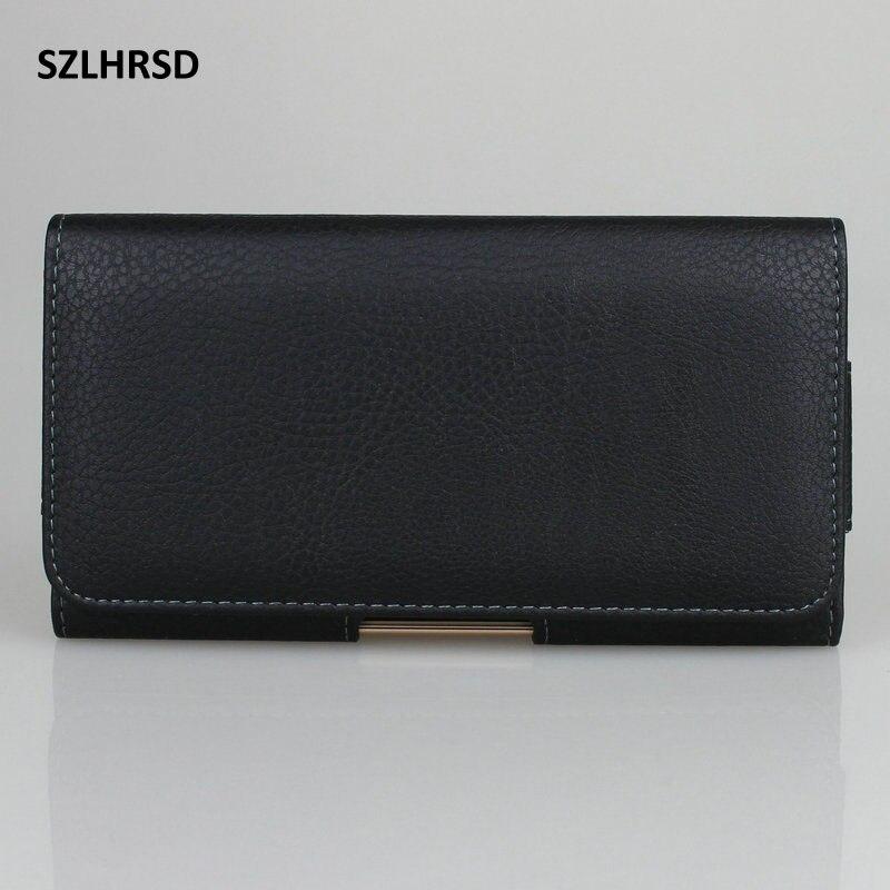 SZLHRSD cinturón Clip de cuero PU titular de la cintura titular funda de la bolsa para Motorola Moto Z3 Doogee S70 Lite Blackview BV6800 Pro cubierta del teléfono