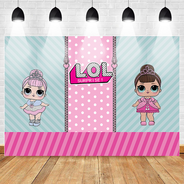 Mehofoto Cartoon Photography Backdrops Birthday Newborn Baby Party Background for Girls Stripes Custom Backdrop Photo Studio