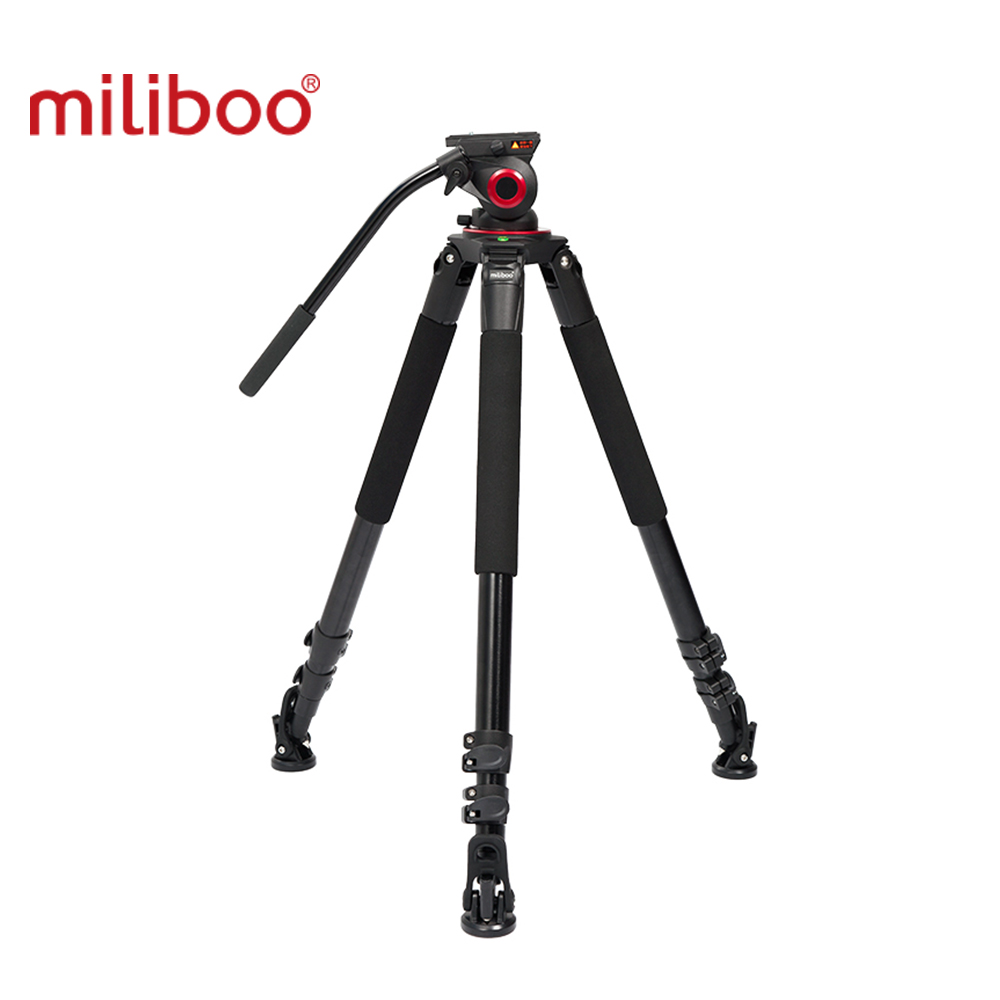 Miliboo IronTower MTT703A 25kg weight bear Alloy Aluminum professional camera Video tripod stand Fluid head цена 2017
