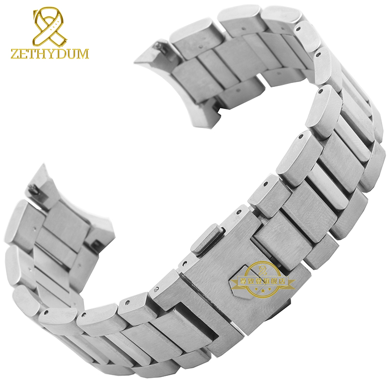 Stainless steel Watchband solid steel strap silver  width 22mm bracelet men's watch wristwatches band accessories for WAR201D стоимость