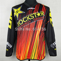 2016 Motorcycle Motocross Rockstar Jersey MTB ATV MX DH Men Dirt Bike Cycling Jersey Quick dry 100% polyester M-XXL