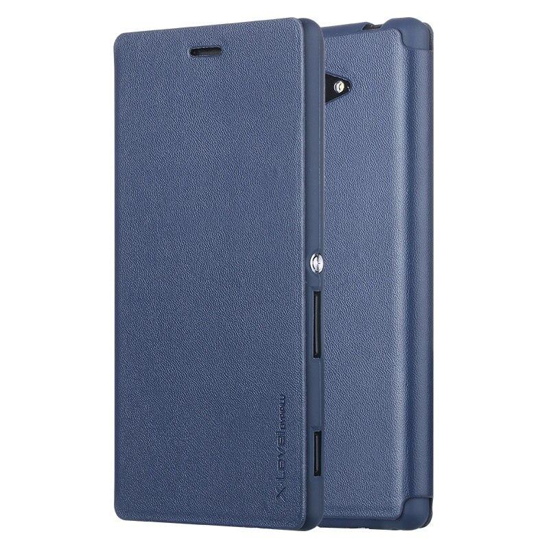 imágenes para X-LEVEL para Sony Xperia M2 D2305 D2303 D2306 Caja Delgada Del Cuero Del Soporte Casos del tirón del Teléfono Cubierta de La Bolsa para Sony Xperia M 2/M2 Dual