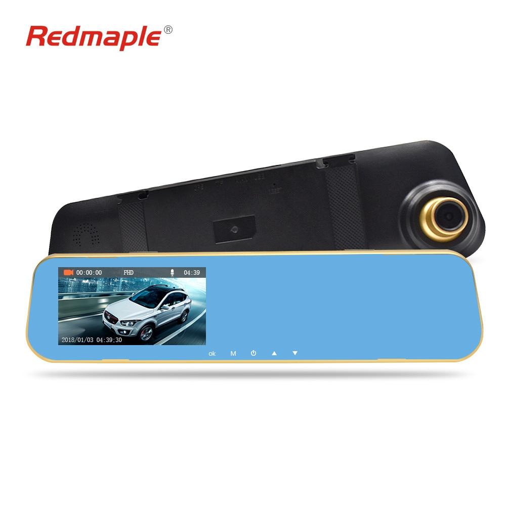 Redmaple Car DVR Camera Dual Lens IPS 4.5 Full HD 1296P /1080P Mirror Digital Video Recorder G Sensor Night Vision Dash Cam