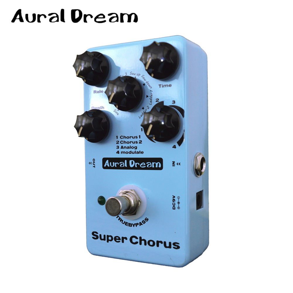 Здесь продается  Aural Dream Super Chorus Electric Guitar Digital Effect Pedal with 8 Algorithms Five knobs True Bypass Design  Спорт и развлечения