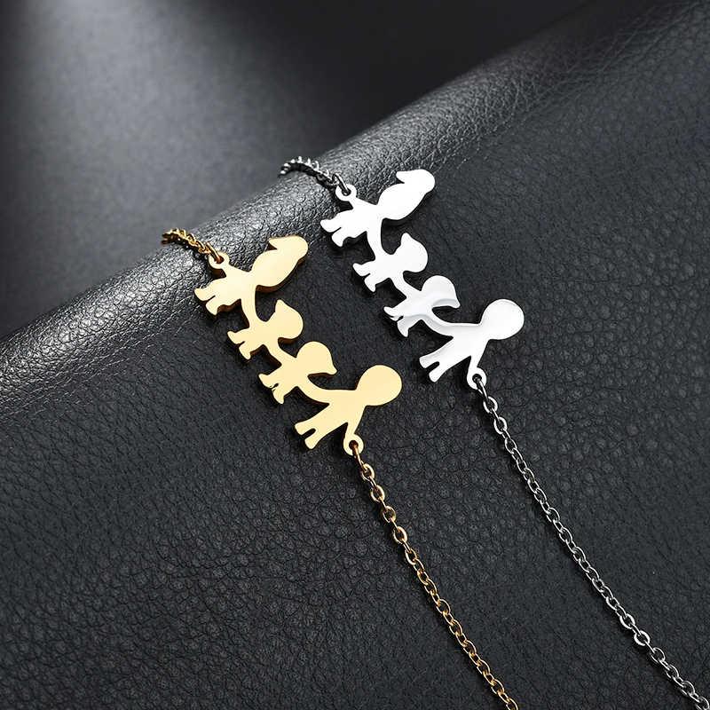 Leuke Rvs Moeder Vader Kids Familie Armbanden Vrouwen Goud Verstelbare Figuur Armbanden Meisjes Sieraden