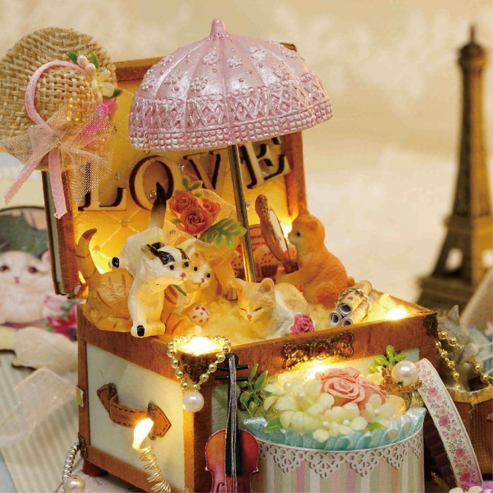 DIY Miniature Dollhouse CANDY CAT CADEAU BOÎTE avec Mouvement - Poupées et accessoires - Photo 5