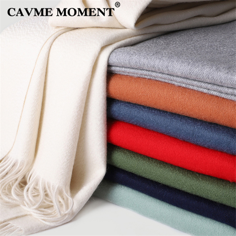 CAVME 100 Cashmere Scarf for Ladies Men s Women s Scarves Solid Basic Long Scarves with