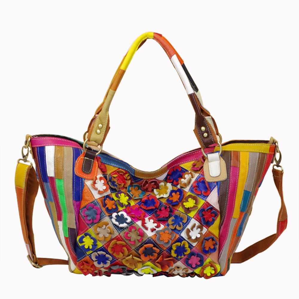 Caerlif Famous brand genuine leather bags for women Solid flower Multicolor Ms.Shoulder bag WOMEN Large package Messenger Bags caerlif famous brand genuine leather bags for women solid flower multicolor ms shoulder bag women large package messenger bags