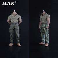 1/6 Scale Male Clothes Accessory Explorer Male Shirt &Pants & Shoes for M34 M35 Muscle Action Figure Body
