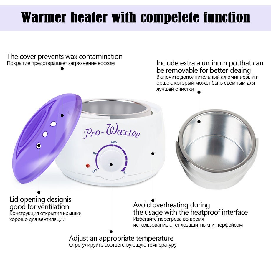 Image 3 - Professional Warmer Wax Heater Mini SPA Hand Epilator Feet Paraffin Wax Rechargeable Machine Body Depilatory Hair Removal Tool-in Epilators from Home Appliances