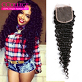 Brazilian Deep Curly Closure With Baby Hair Lace Closure Sew In Weave Mocha Hair Company Brazilian Deep Wave Cheap 4*4 Closure