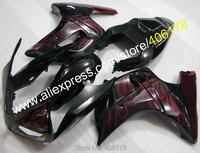 Лидер продаж, красное пламя SV 650 03 13 Обтекатели для Suzuki SV650 SV650S 2003 2013 ABS дорога Aftermarket мотоциклов Обтекатели комплект