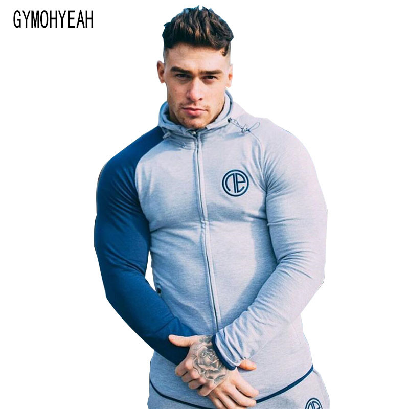 GYMOHYEAH Men's Sweatshirt Hoodies Hip Hop Hoodies Male Brand Hoodies Color Striped Patchwork Men Slim Fit Men pullover Hoodie