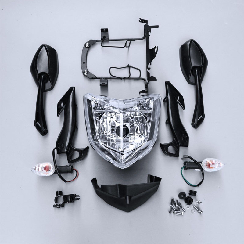 Motorcycle Head Light Lamp Headlight Assembly Turn Signals Rear View Mirrors Kit Set For YAMAHA FZ1N 2006-2009 2007 2008 цена