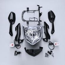 Moto Lampada della Luce Della Testa Del Faro di Montaggio Indicatori di direzione Posteriore Vista Specchi Kit Set Per YAMAHA FZ1N 2006-2009 2007 2008