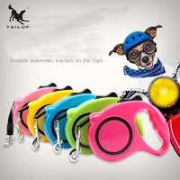 TAILUP Retractable Nylon Pet Leashes Portablely Running Walking Hands Free Dog Leashes 3m 5m Scalable Automatic