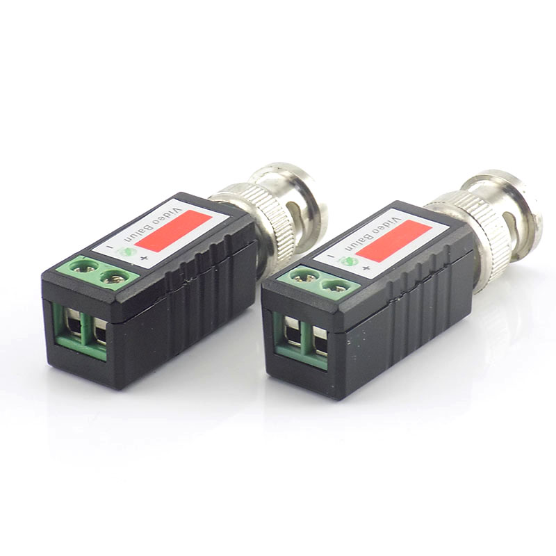 Gakaki 20pcs CCTV Video Balun Twisted BNC Passive Transceiver BNC Male COAX CAT5 Camera UTP Cable Coaxial Adapter For Analog Cam
