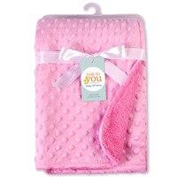 Мягкое детское одеяло Bean Point Флисовое одеяло для новорожденного ребенка пеленать обертывание Bebe конверт обертывание постельное белье для н...