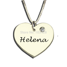 Personalized Heart Name Necklace Engraved Heart Birthstone Pendant Silver You are My Sweet Heart Necklace Memorial Jewelry