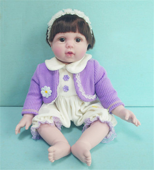 Collectible 20 inch vinyl silicone bebe toddlers  Reborn Baby real dolls Toys Lifelike girl Doll Child Birthday Gift bonecas
