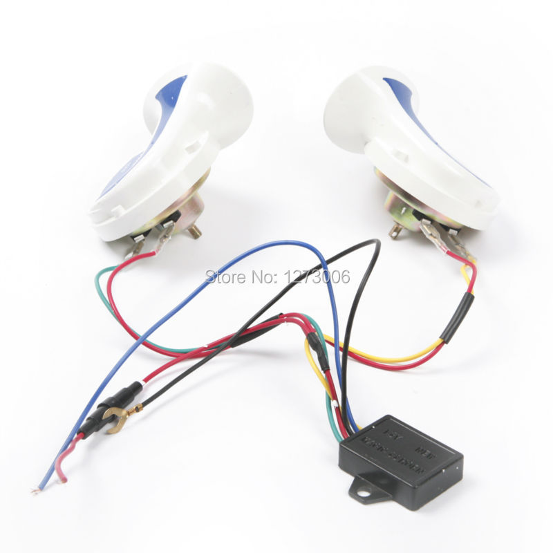 Hot 1 Pair DC 12V 115dB 5A Tone Loud Car Horn 8 Sounds Air Snail Horn For Boat Motor Car Truck SUV Motorcycle Accessories Horn