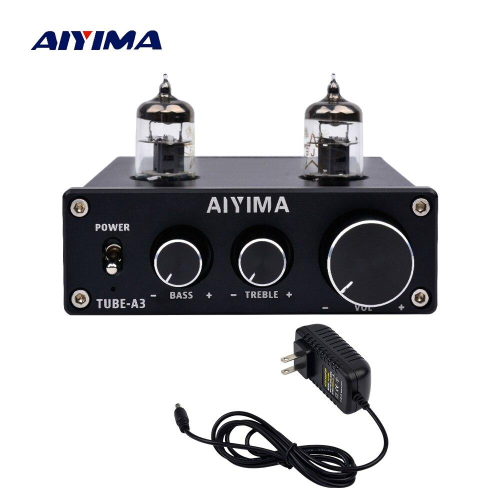 AIYIMA Amplificador Audio 6J1 Tube Mini Power Amplifier Board Professional Bile Preamplifier HIFI Preamp DC12V For