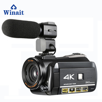 Winait 4K digital video camcorder, max 24mp night vision digital video camera with 3.0'' touch display home use DV