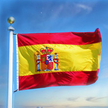 Spain Flag 3x5Ft 90X150CM Indoor Outdoor Polyester National Pennants Word Cup