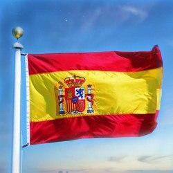 Espanha Bandeira 3x5Ft Poliéster Bandeira Nacional 90X150 CM Interior Ao Ar Livre Bandeirolas Bandeira Copo Palavra