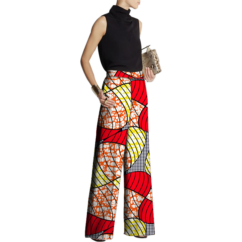 Women Loose   Pants   African Fashion Design African Clothes   Wide     Leg     Pants   Customized Ladies Dashiki Print Trousers