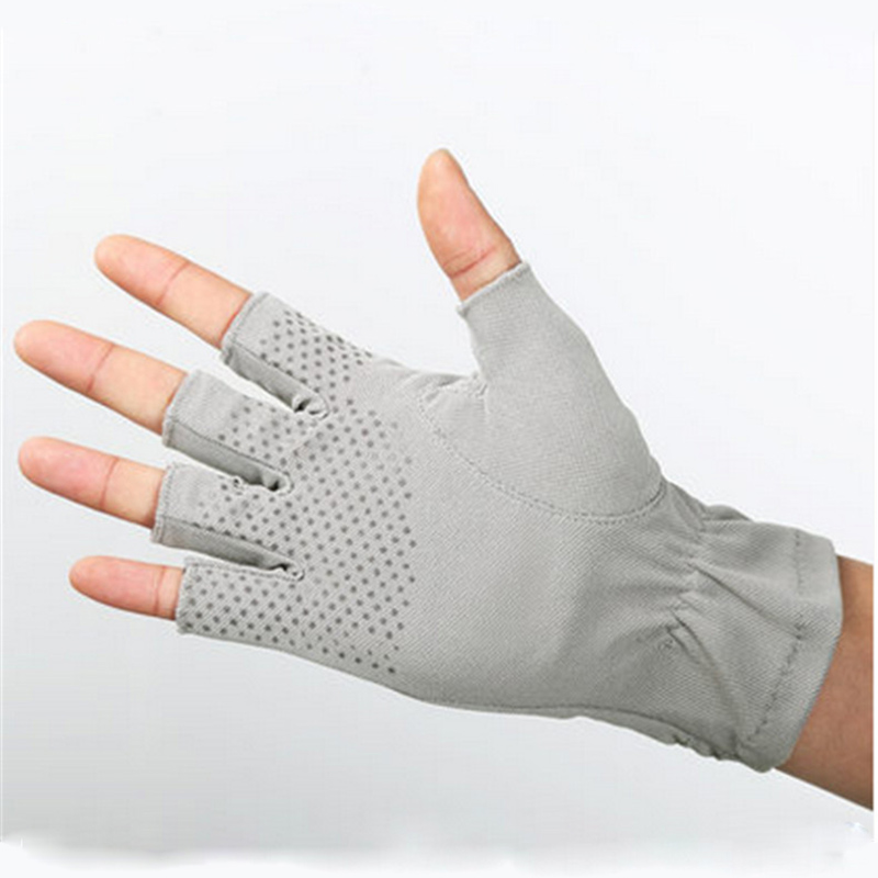 Spring And Summer Thin Section Breathable Sweat Absorbent Female Half Refers To Anti Skid Sunscreen Couple Gloves Male SZ005 3 in Men 39 s Gloves from Apparel Accessories