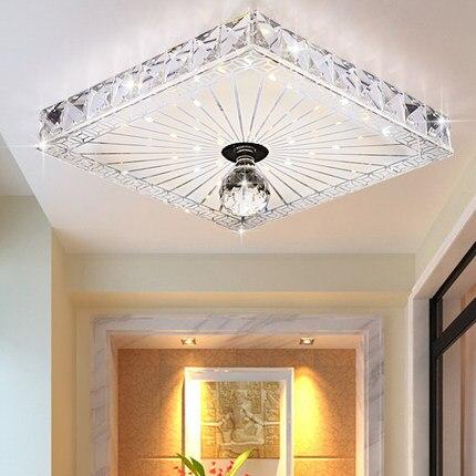hallway ceiling lighting. square crystal ceiling lights balconyhallway lighting 12w recessedsurface mounted led lamps hallway