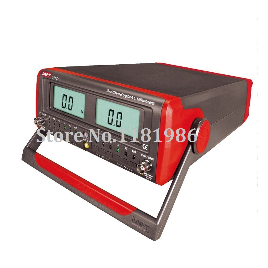 High Voltage Detector With Display : Uni t ut dual channel digital display ac millivolt