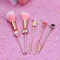 Alice in Wonderland Makeup Brushes Set Foundation Blending Powder Eyeshadow Contour Concealer Blush Cosmetic Makeup Tool Pincel