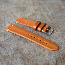 Handmade Retro Genuine Leather Watch Strap Band 18mm 20mm 22mm 24mm Man Women Wrist Watchbands Belt Silver Polished Buckle #C все цены