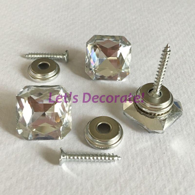 freies dhl shiping 200 teile los 18mm klar farbe platz kristall glas schrauben rei zwecken. Black Bedroom Furniture Sets. Home Design Ideas