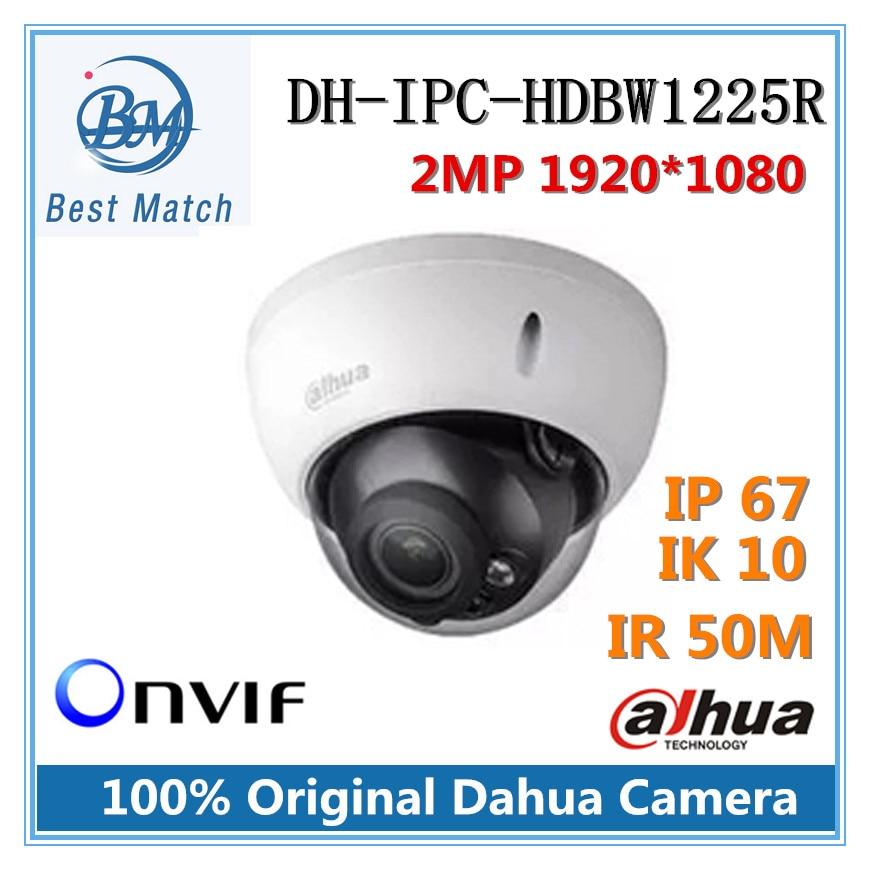 imágenes para Original DH-IPC-HDBW1225R Dahua Full HD 2MP a prueba de Vandalismo de Red Domo IP Cámara IR distancia 50 m Onvif IPC-HDBW1225R